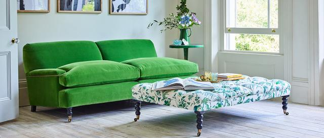 House & Garden Large Holmes Sofa in Designers Green Emerald