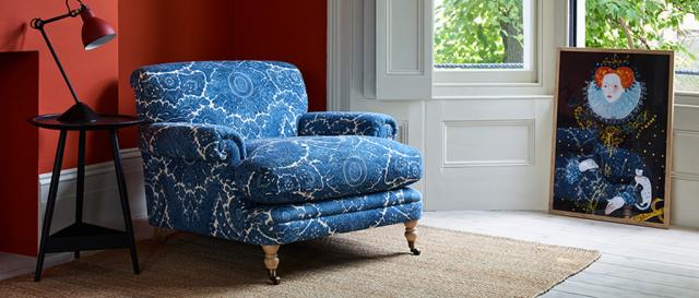 House & Garden Poirot Chair in Designer Fabric