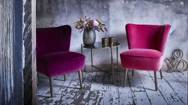 Emilia Cocktail Chairs in Cotton Velvet
