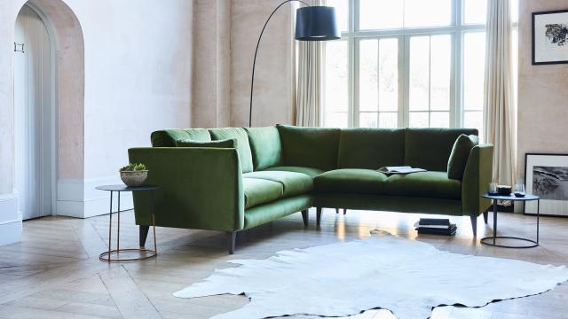 pleasurable designer sofa throws. New Philo Corner in Velvet Affordable  Handmade Designer Furniture Arlo Jacob