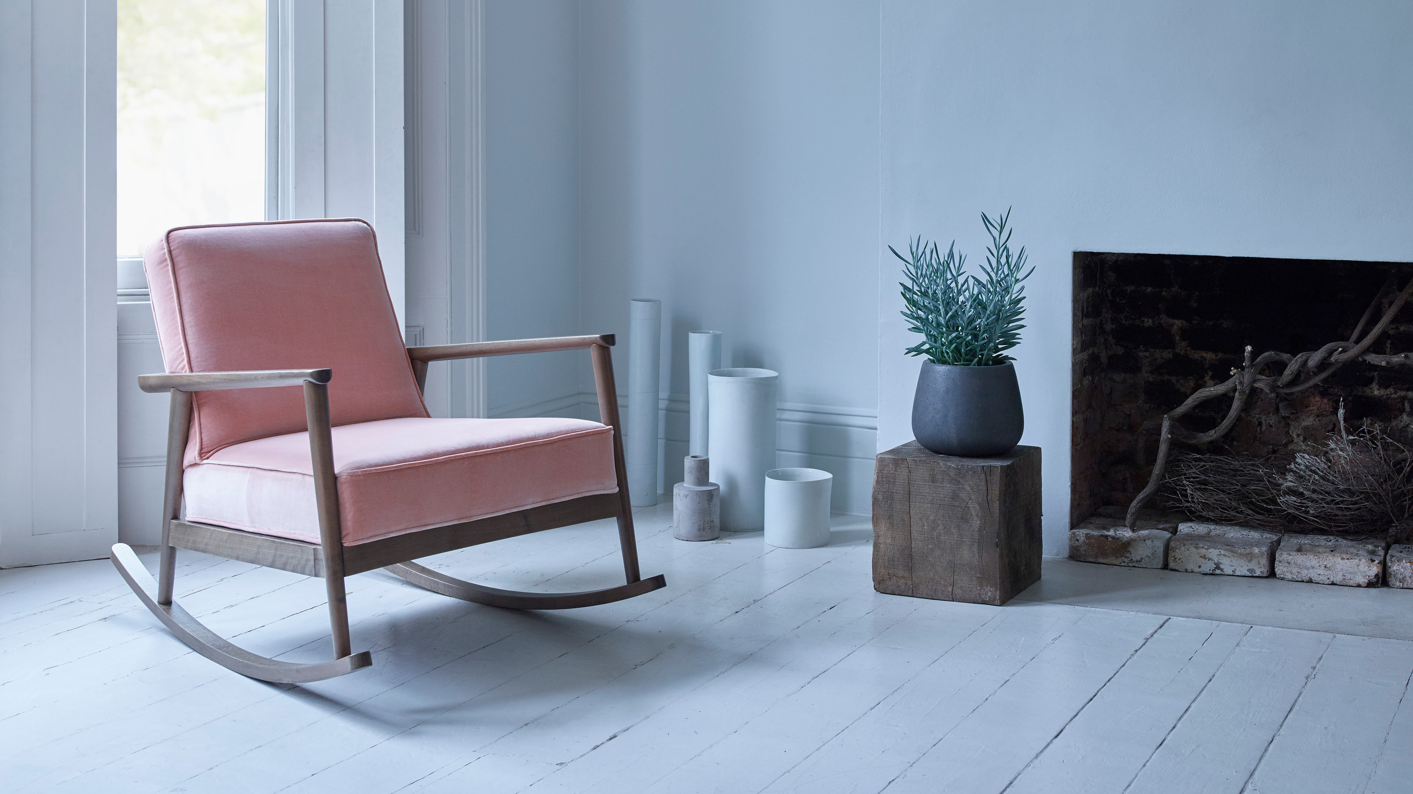 rocking chair silhouette. The Charming Jemima Mid-century Rocking Chair Is Influenced By Simple Scandi-design, With Its Graceful Silhouette And Clean Lines. Perfect Lazy Lounger