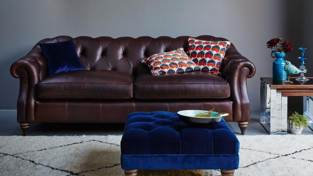 Darcy Leather Rancher Sofa