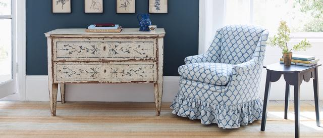 House & Garden Drew Chair in House & Garden Fabric