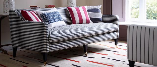 House & Garden Large Morse Sofa in Gingham