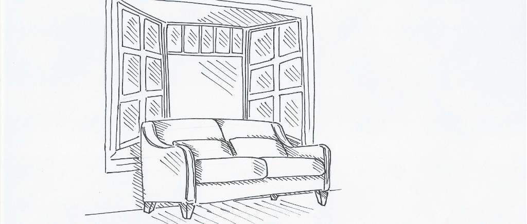 Denny Sofa Sketch