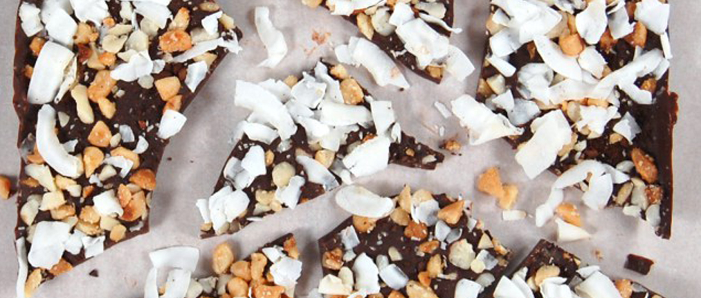 Coffee Macademia & Coconut Chocolate Bark