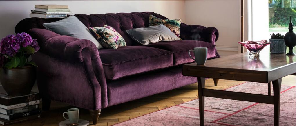 Chesterfield Sofa Purple Italian Velvet