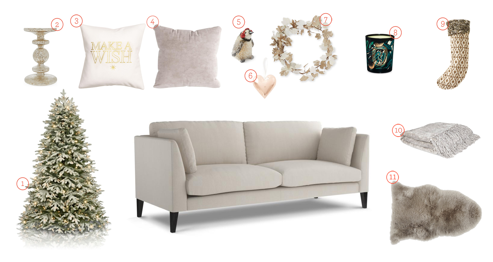 Get The Look - Philo Sofa for the Christmas Living Room