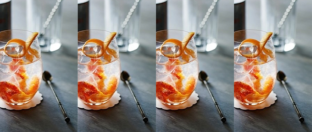 Orange Gin & Tonic Cocktail