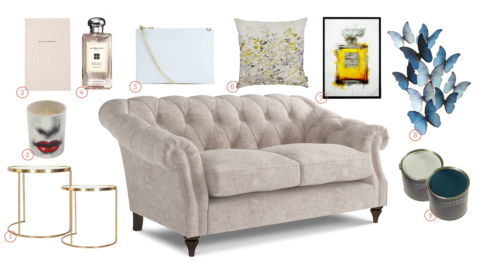 Get The Look - Darcy Sofa Houte Couture