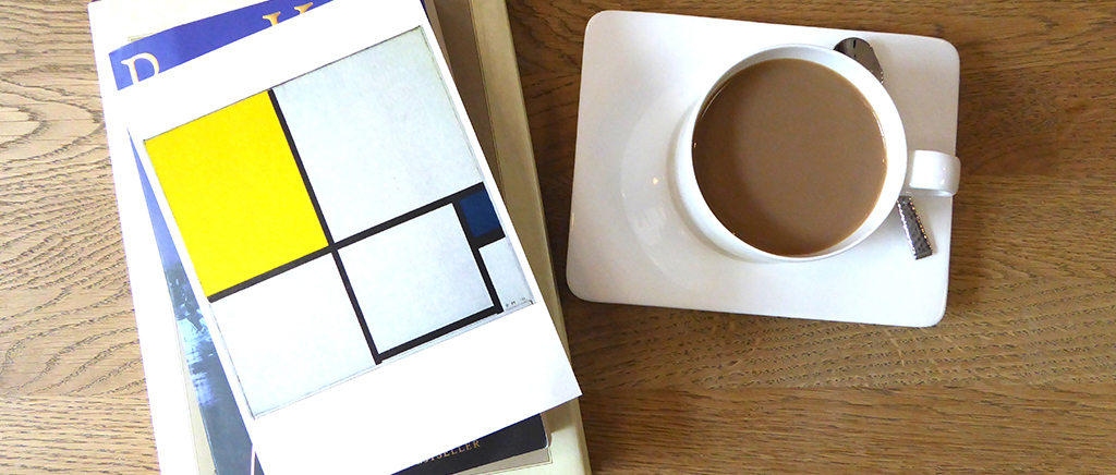 Coffee Table with Mondrian Artwork