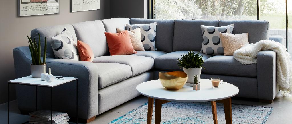 Pembroke Corner Sofa in Dumble - Marmotte fabric