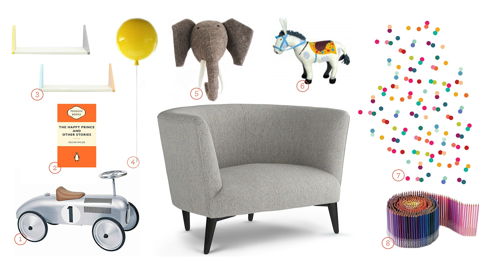 Get The Look - Elton Snuggler Upholstered in Feather Grey Fabric