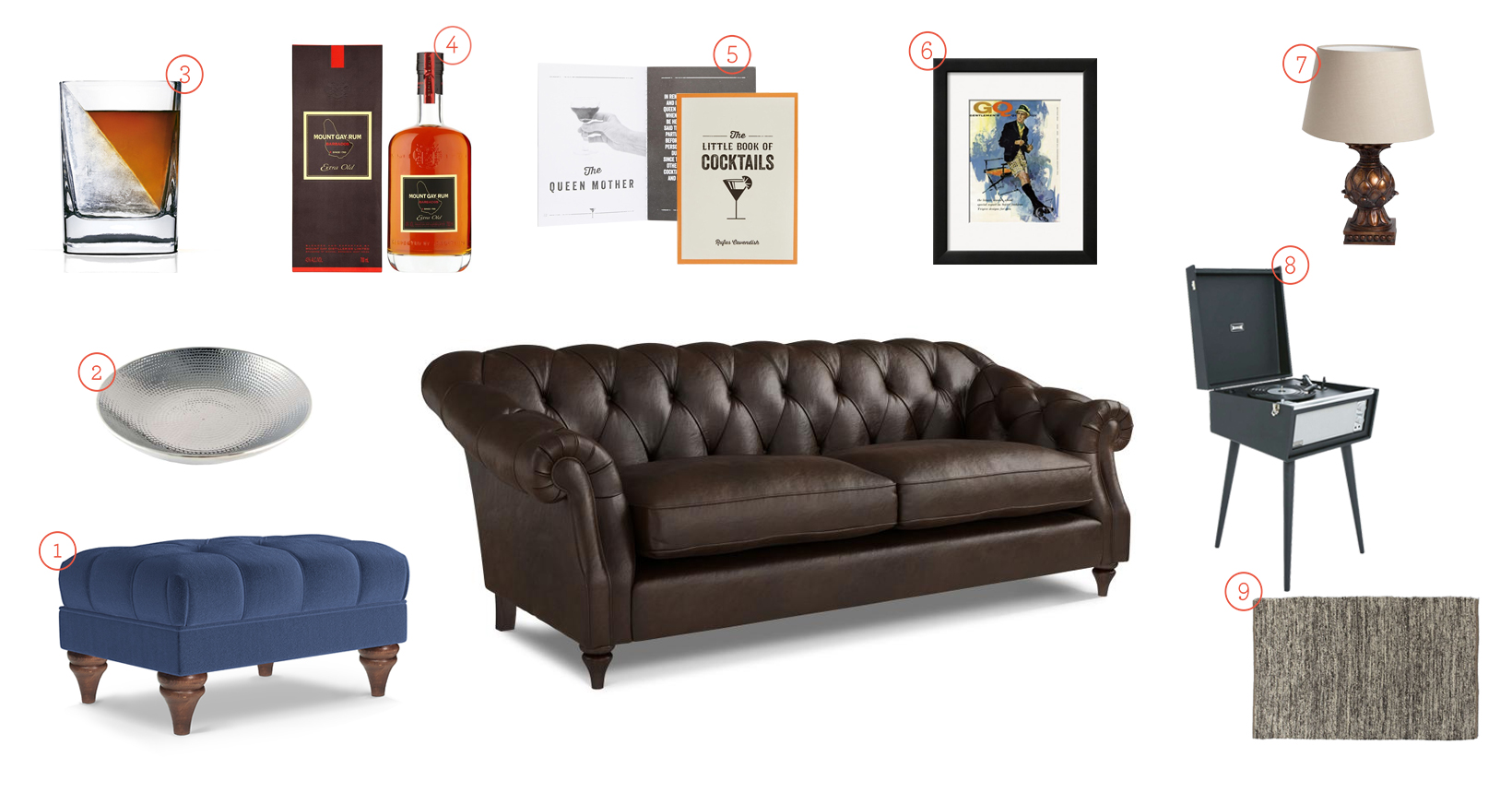 Get The Look - Brown Leather Darcy