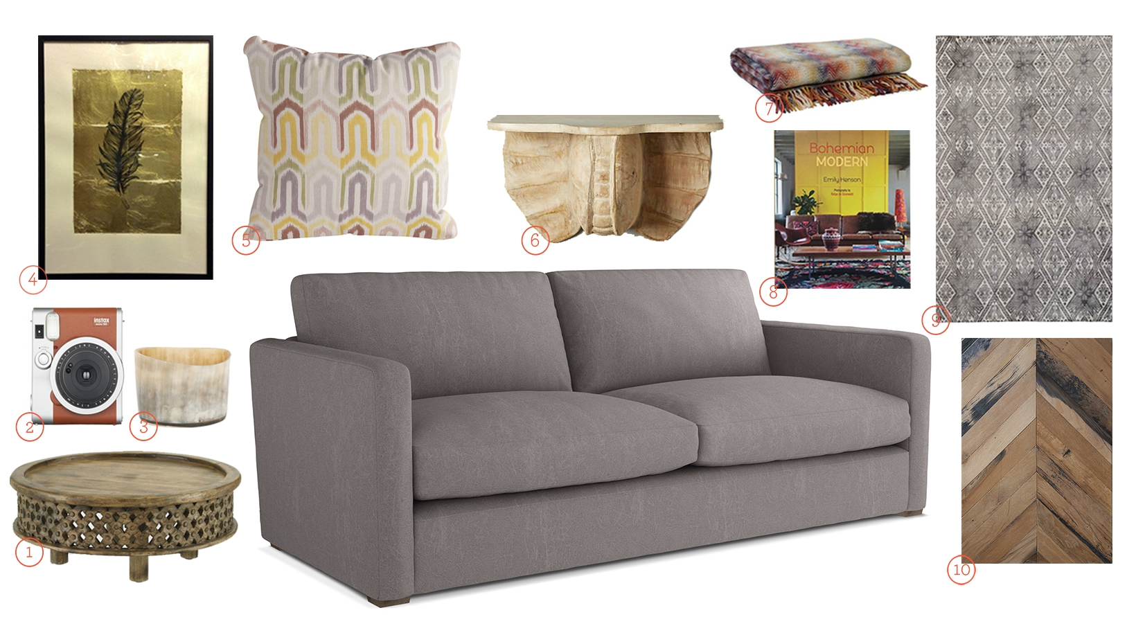 Get The Look - Mowbray Sofa in Grey Fabric