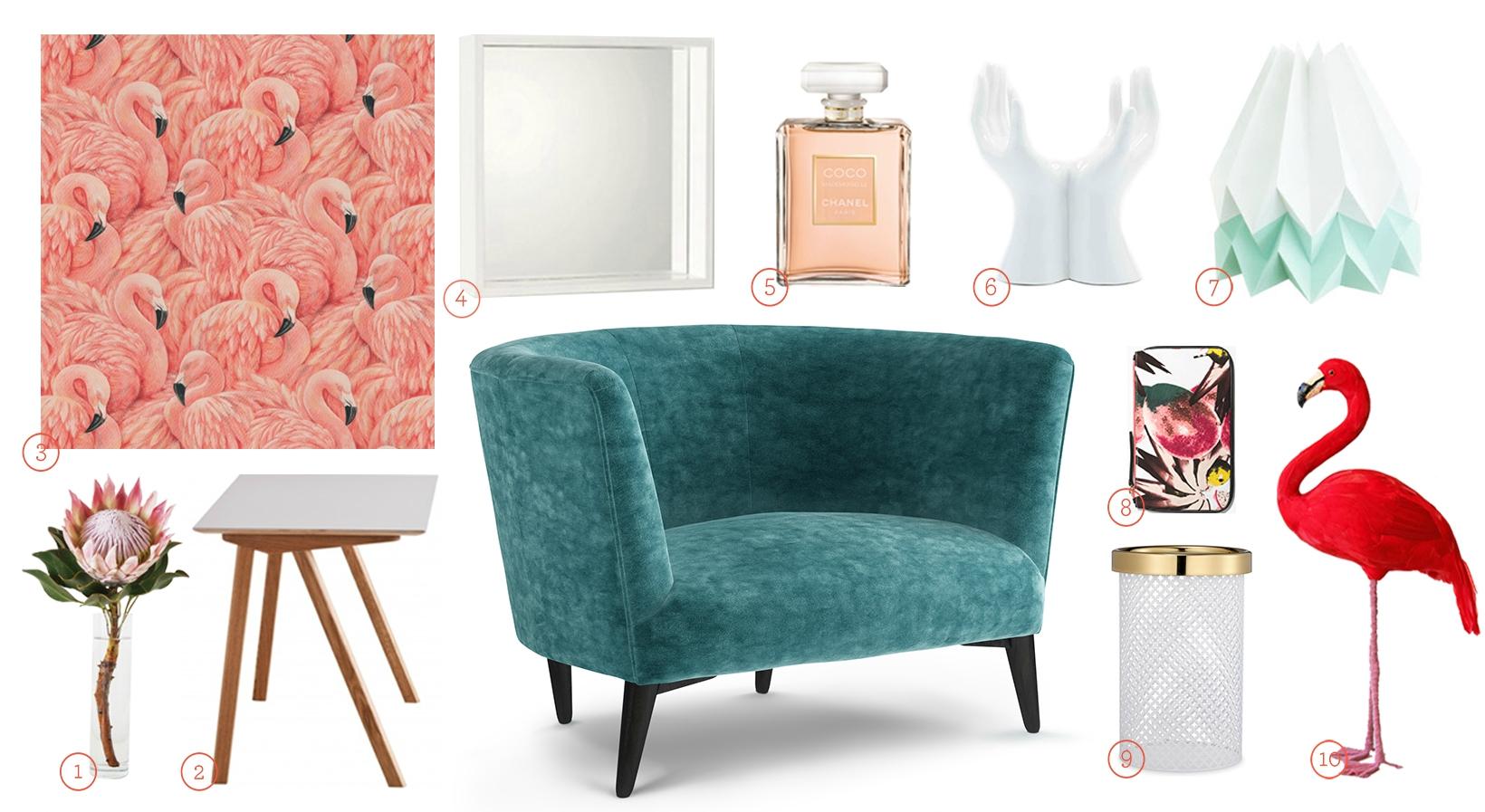 Get The Look - Elton Snuggler Upholstered in Teal Velvet Fabric