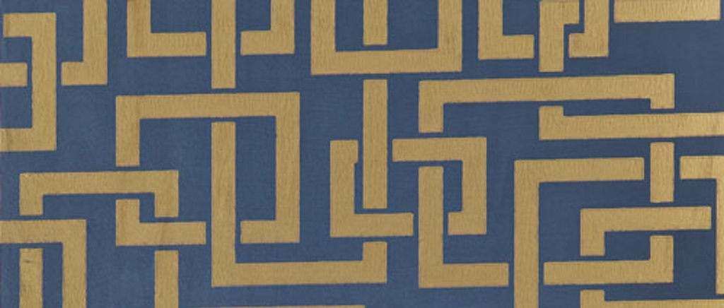 art deco navy enigma wallpaper