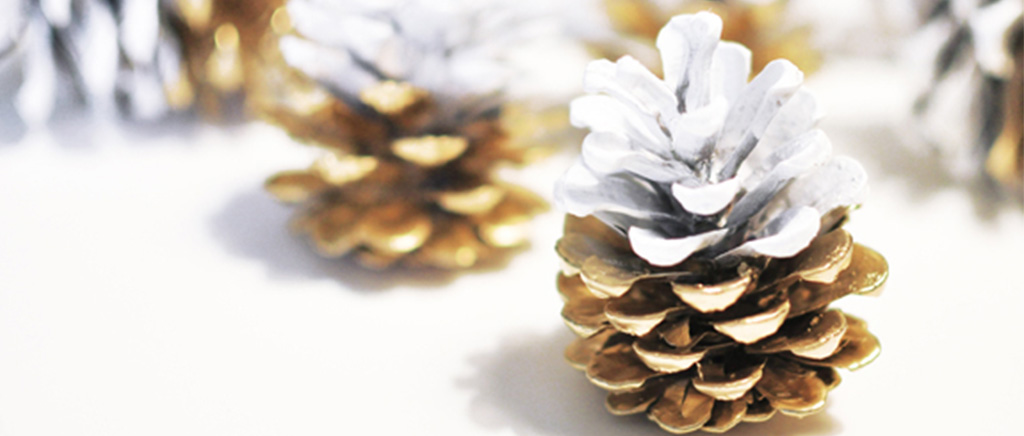 Gold Pinecone decorations