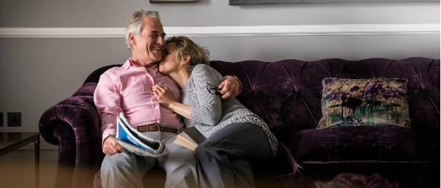 Couple on Darcy sofa