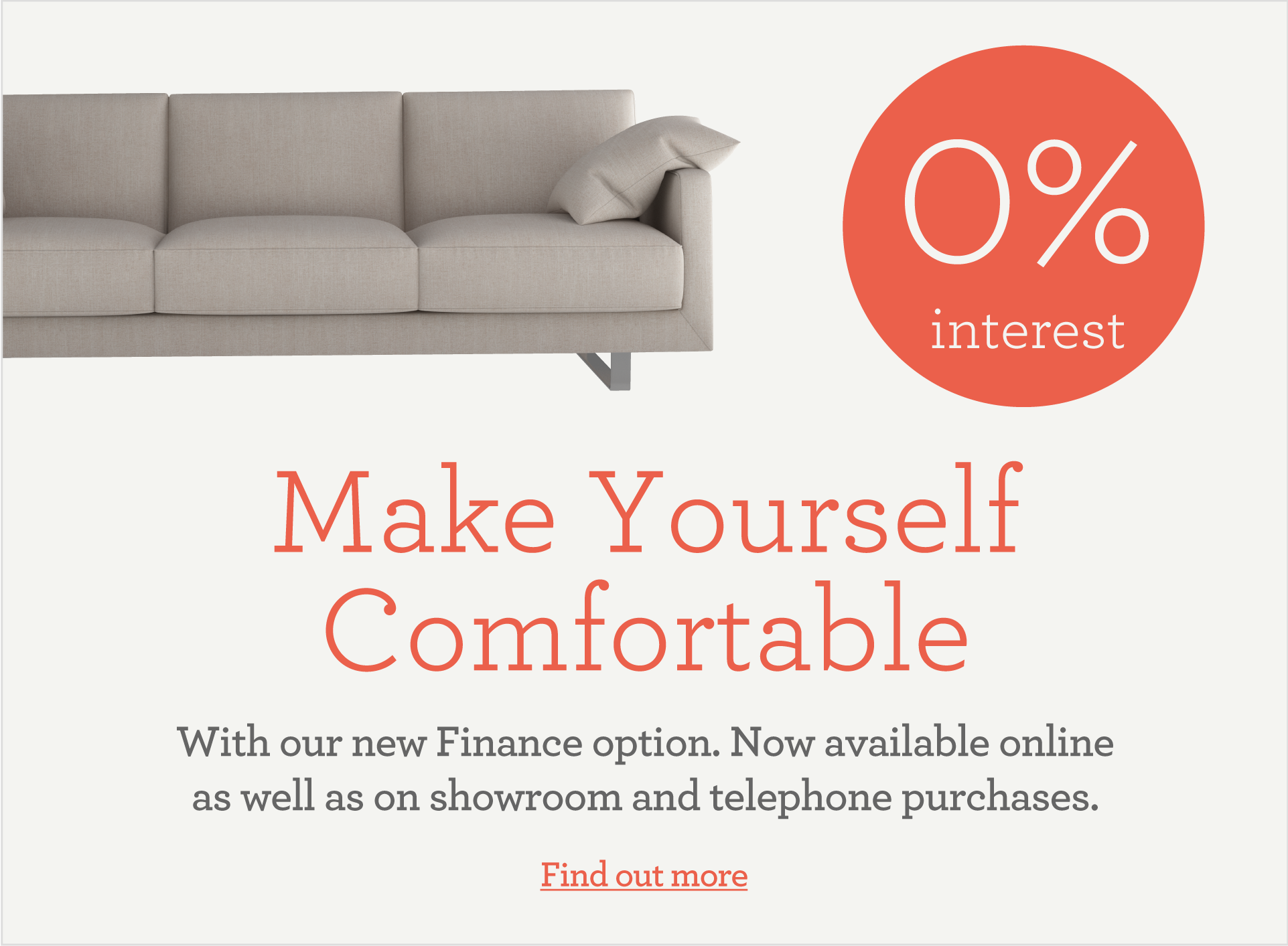 Find out more about our finance offer