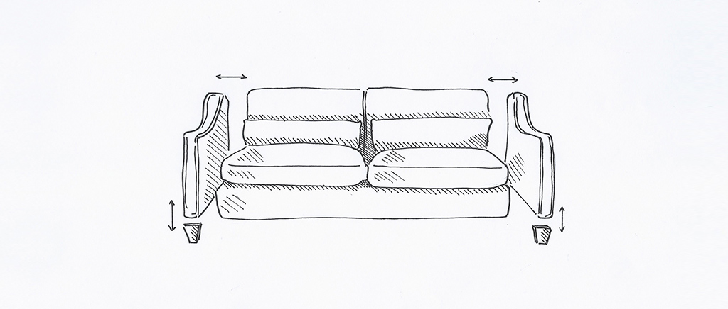 Sketch of Desconstructed Sofa