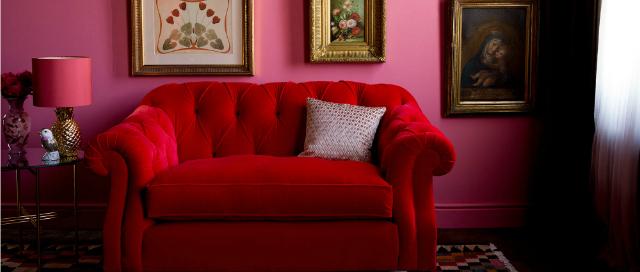 Red velvet Darcy snuggler