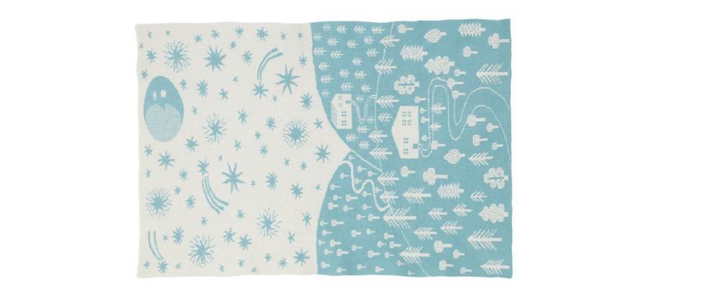 Night night mini blanket in light blue