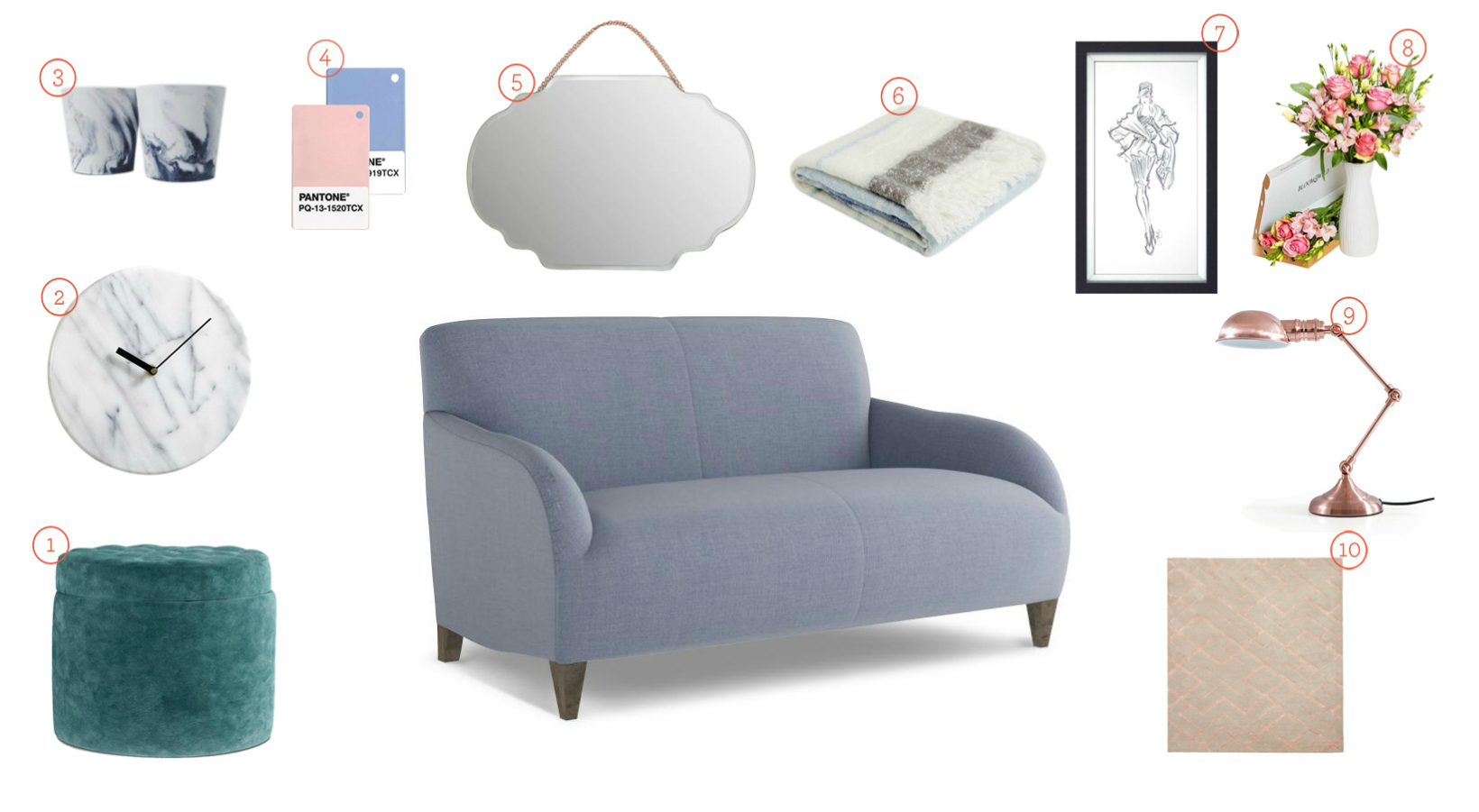 Get the Look - Orlando Sofa Lilac