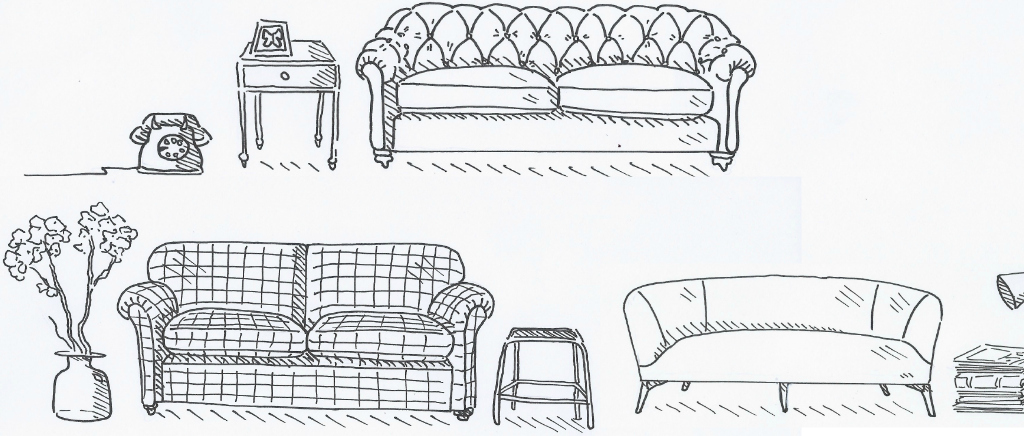 Arlo & Jacob Darcy, Montague & Elton Sofas Sketch