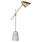 brass marble table lamp mid-century