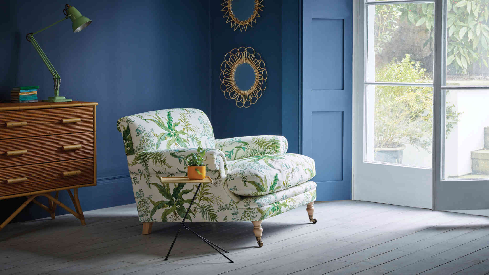 Poirot chair chintz fabric