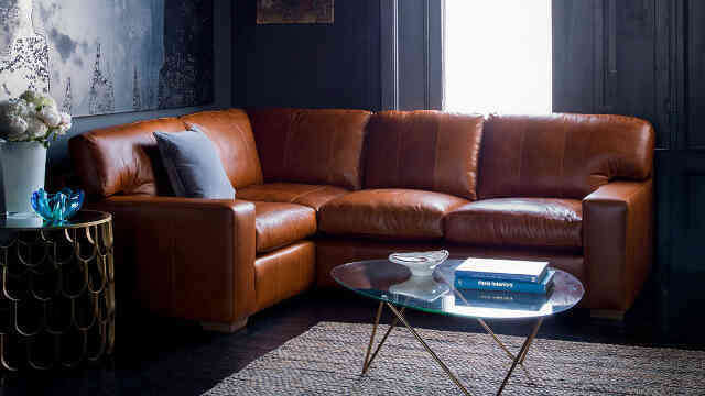 balthasar leather corner sofa