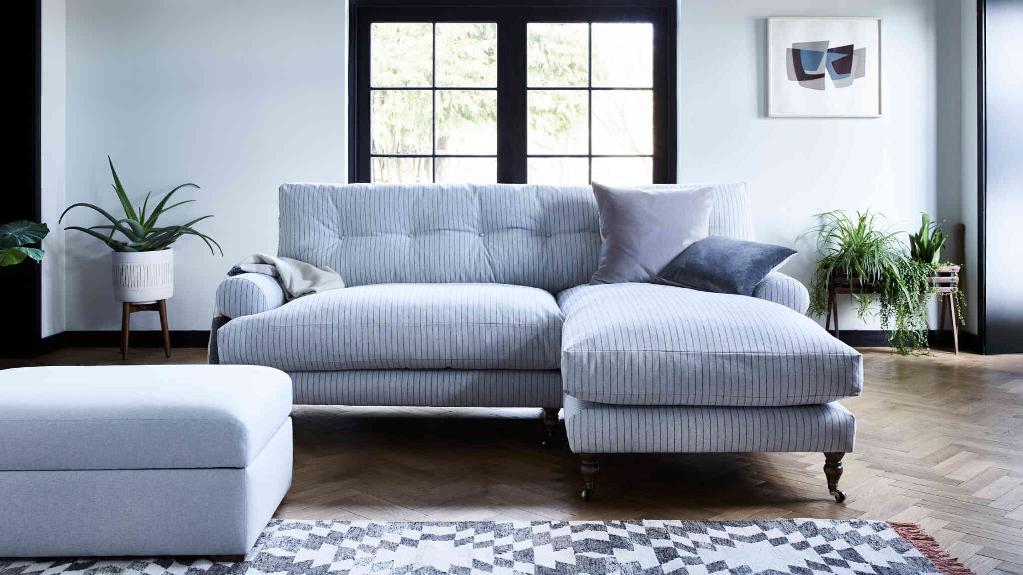 henry large chaise sofa